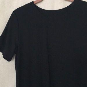 Susan Graver knit jersey basic black A line dress